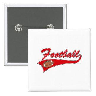 Red football logo button