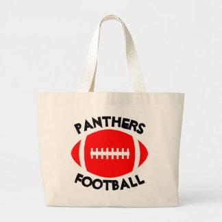 Red Football Mom Custom Team Name or Text Tote Bag