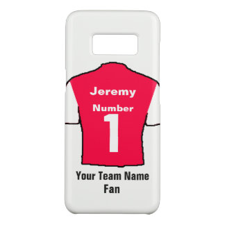 Red Football Shirt Choose name and team Case-Mate Samsung Galaxy S8 Case