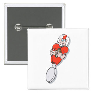 red football spoon pinback button