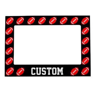 Red Football Team or Player Name/Text Custom Frame