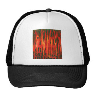 Red Forest Mutations (red surrealism disign) Trucker Hat