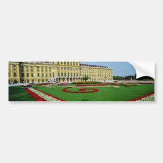 Red Formal gardens at entrance to Schonbrunn Palac Bumper Stickers