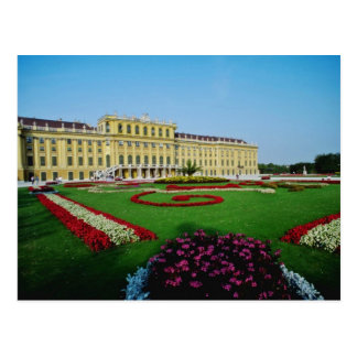 Red Formal gardens at entrance to Schonbrunn Palac Postcard