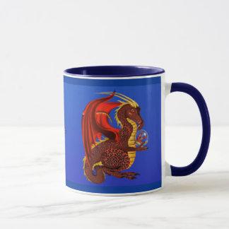 Red Fortune Dragon Mug