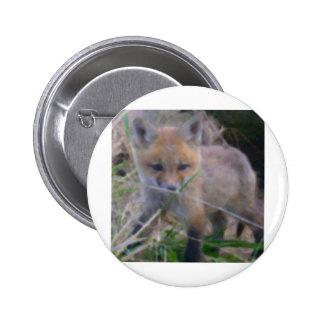 RED FOX 2 INCH ROUND BUTTON