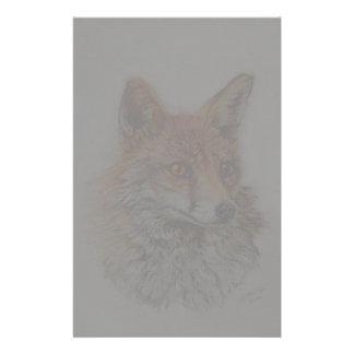 red fox art custom stationery