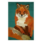 Red Fox Art Poster