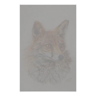 red fox art stationery