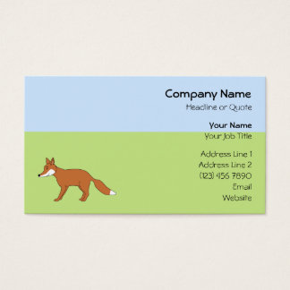 Red Fox. Business Card
