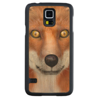 Red Fox Carved Maple Galaxy S5 Case