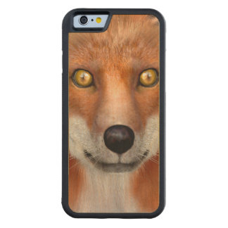 Red Fox Carved Maple iPhone 6 Bumper Case