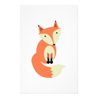 Red Fox Customized Stationery