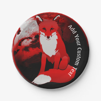 Red Fox Design Custom Party Paper Plates 7 Inch Paper Plate