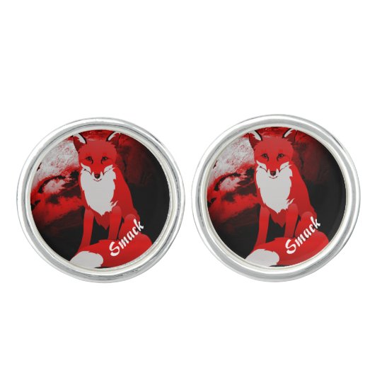 Red Fox Design Personalized Cufflinks