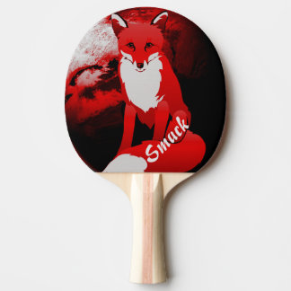 Red Fox Design Personalized Ping Pong Paddle