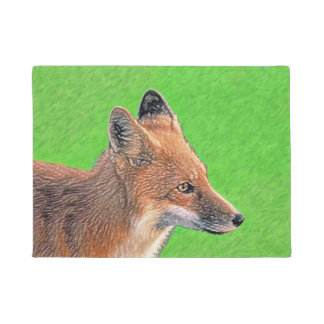 Red Fox Doormat
