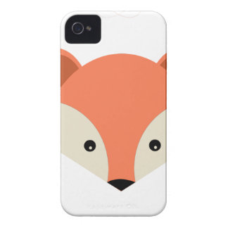 Red Fox Drawing iPhone 4 Cases