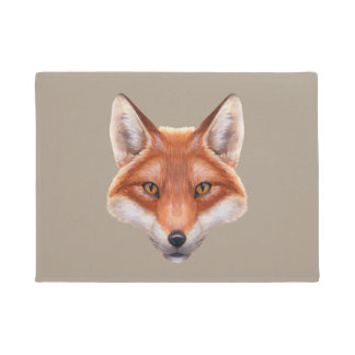 Red Fox Face Doormat