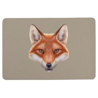 Red Fox Face Floor Mat