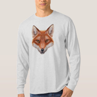 Red Fox Face Long Sleeve T-Shirt