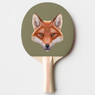 Red Fox Face Ping Pong Paddle