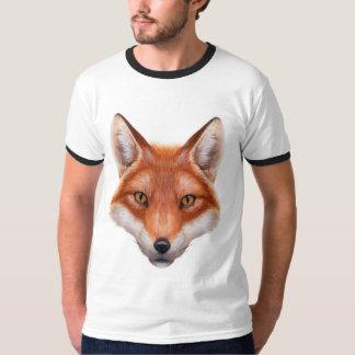 Red Fox Face Ringer T-Shirt