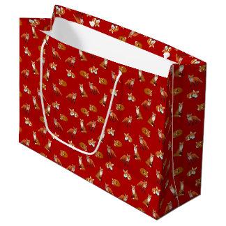 Red Fox Family Gift Bag