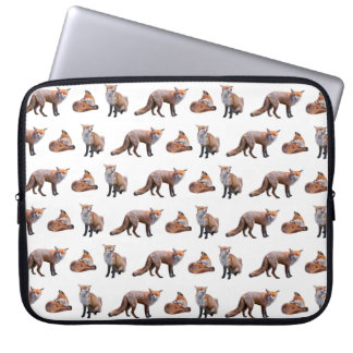 Red Fox Frenzy Laptop Sleeve