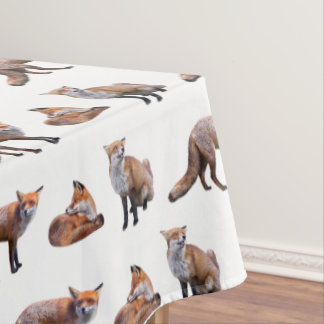 Red Fox Frenzy Tablecloth (choose colour)