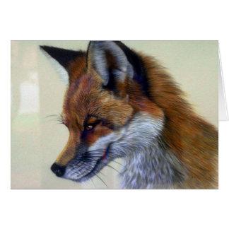 Red Fox (head study) Card