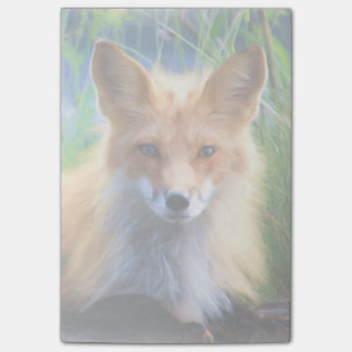 Red Fox Laying in the Grass Wildlife Image Post-it® Notes