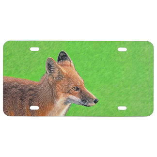Red Fox License Plate