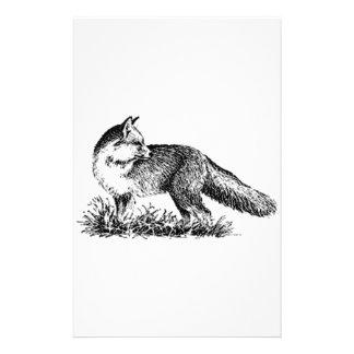 Red Fox (line art) Custom Stationery