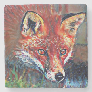 Red Fox Marble Coaster