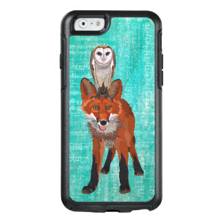 RED FOX & OWL BLUE OtterBox iPhone 6/6S CASE