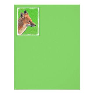 Red Fox Painting - Original Wildlife Art Letterhead