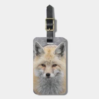 Red Fox Photo Luggage Tag