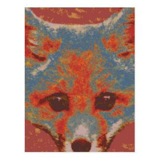 Red Fox Print Postcard