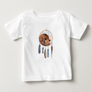 Red Fox Sleeping on Dreamcatcher Baby T-Shirt