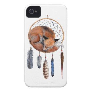 Red Fox Sleeping on Dreamcatcher Case-Mate iPhone 4 Case