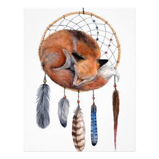Red Fox Sleeping on Dreamcatcher Letterhead