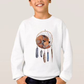 Red Fox Sleeping on Dreamcatcher Sweatshirt