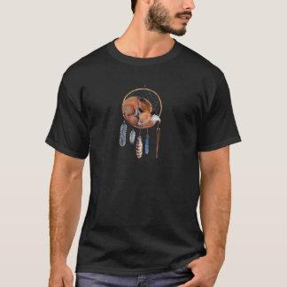 Red Fox Sleeping on Dreamcatcher T-Shirt