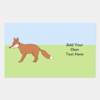 Red Fox. Sticker