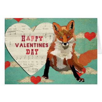 Red Fox Valentine Card