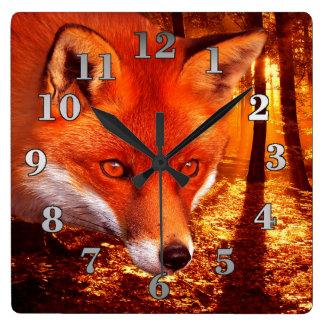 Red Fox Wall Clocks