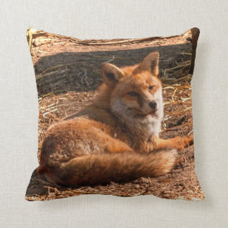 Red Fox Wild Animal Picture Throw Pillow