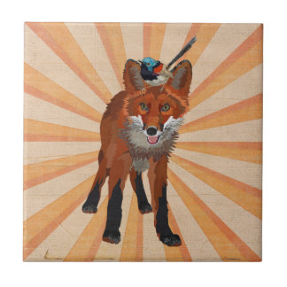 RED FOX & WREN Tile