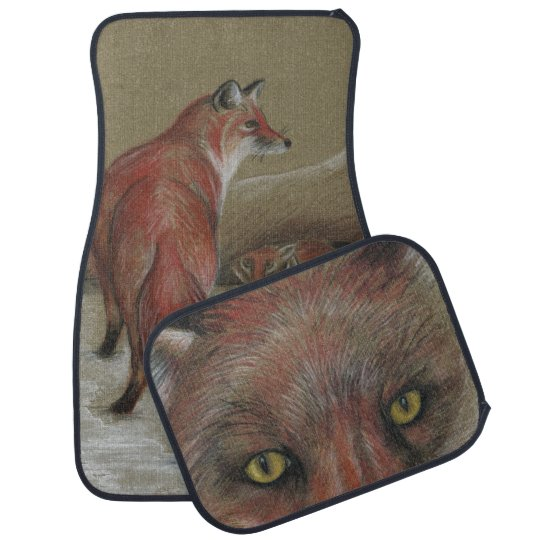 red foxes car mats